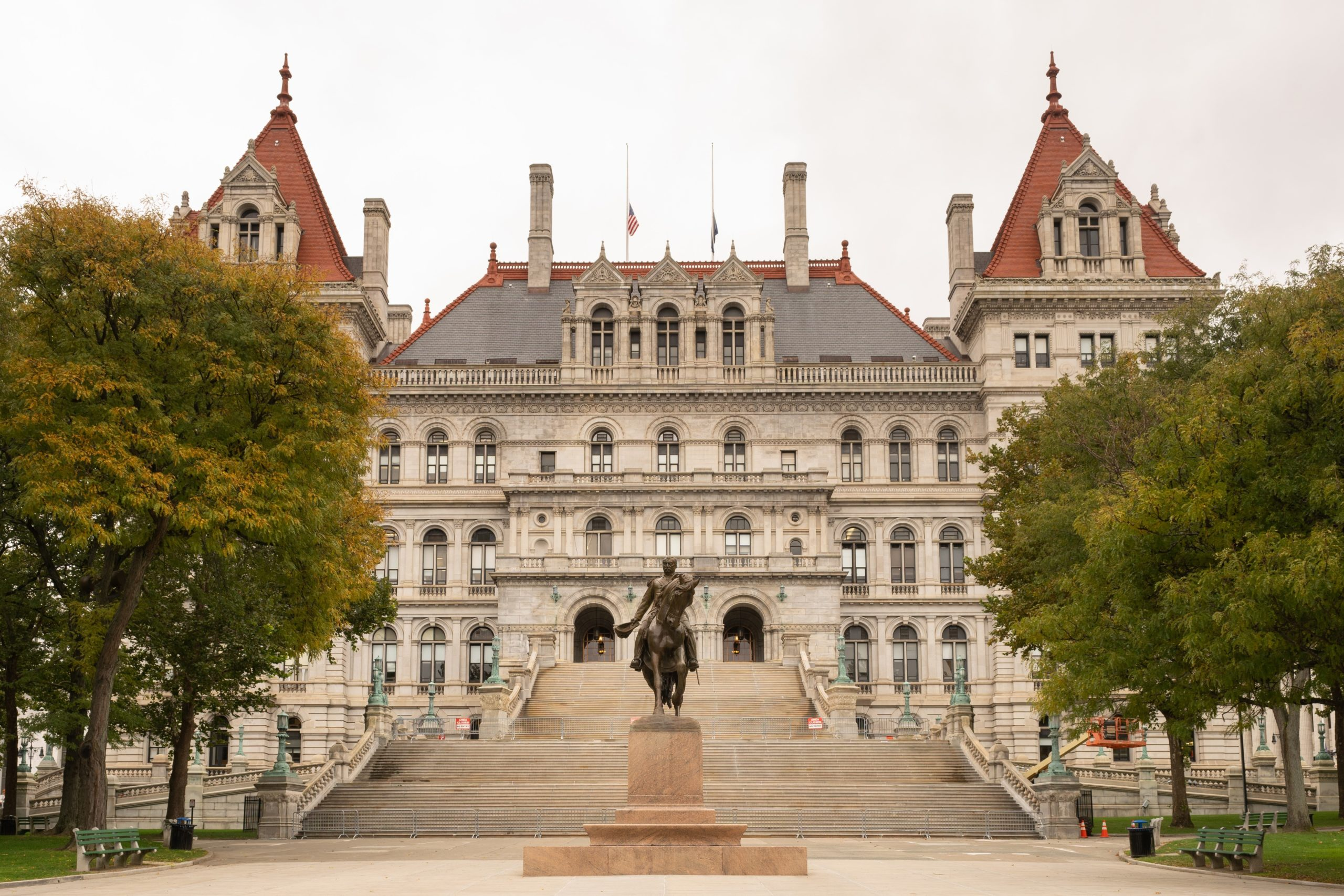 New York statehouse in Albany